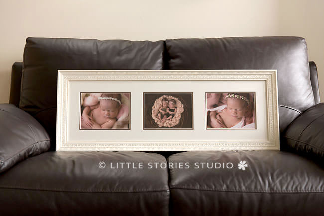 custom framing triple newborn