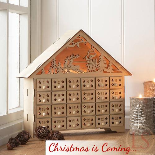 PreChristmas shopping  Gisela Graham Wooden Advent House