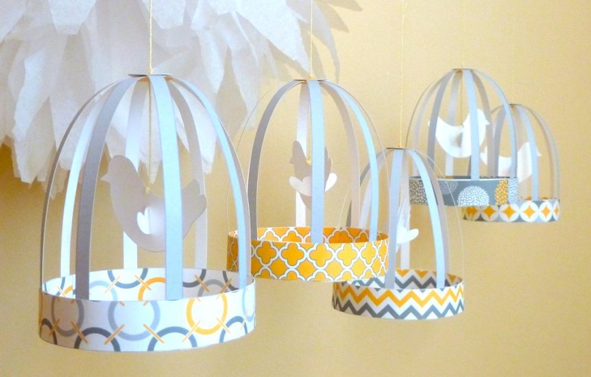 Paper Bird Cage Project