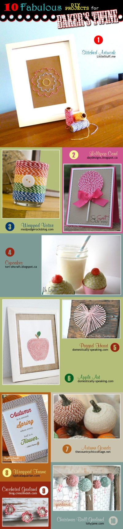 10 Fabulous DIY Projects for Baker's Twine