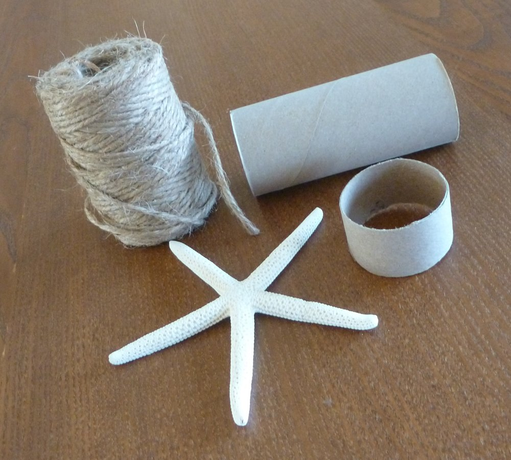 Diy starfish napkin holders little stuff diy starfish napkin holder materials measure off four equal sections on your toilet tissue roll and cut with a utility knife dont worry if the paper solutioingenieria Images