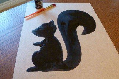Acorn Top Squirrel Silhouette