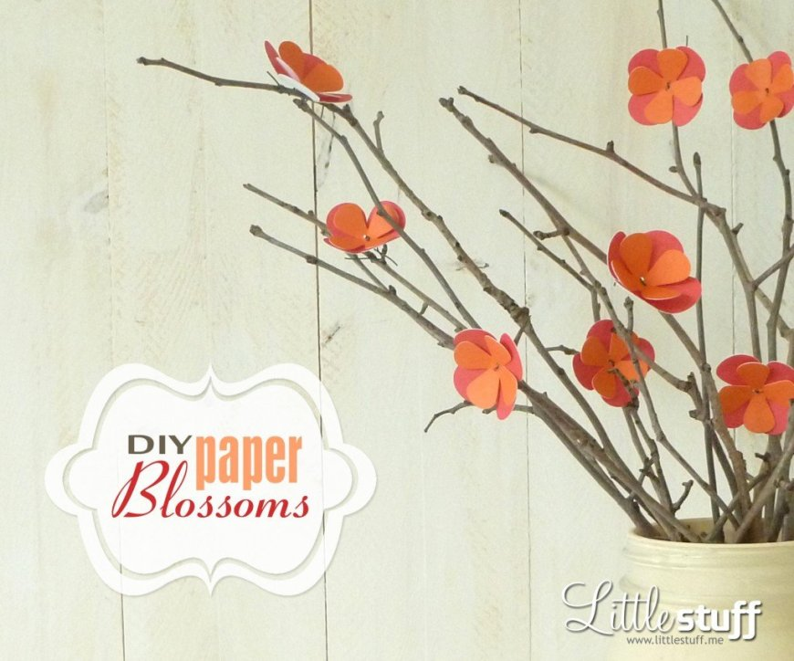 DIY Paper Blossoms
