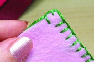 blanket stitch protruding