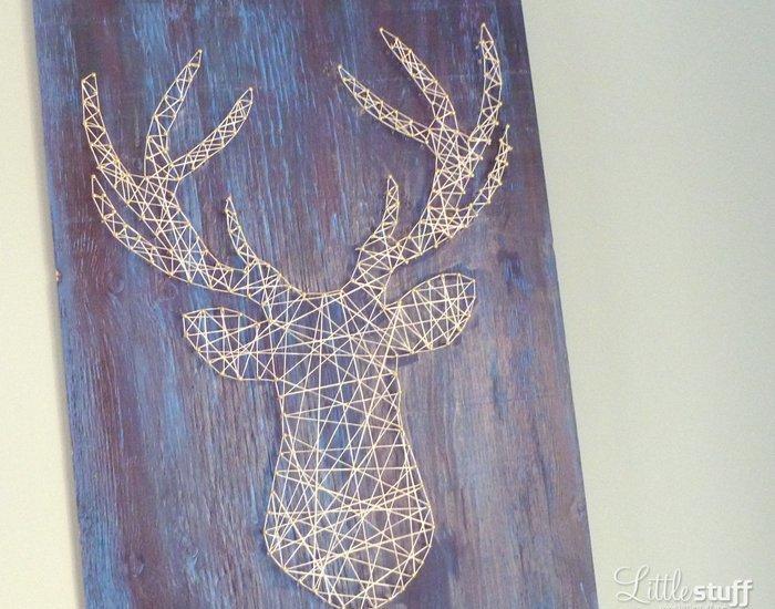 LittleStuff.me: Deer Head String Art