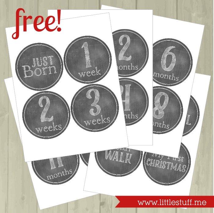 Free Baby Milestone Stickers