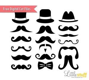 LittleStuff.me: Mustaches and Top Hats Digital Cut Files