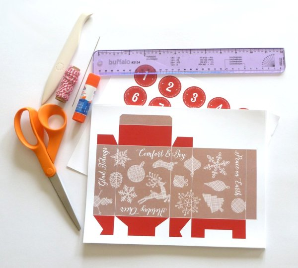 Printable Advent Calendar: Required Materials