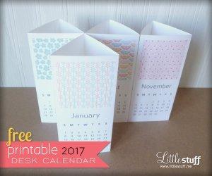 LittleStuff.me: Free Printable 2017 Calendar