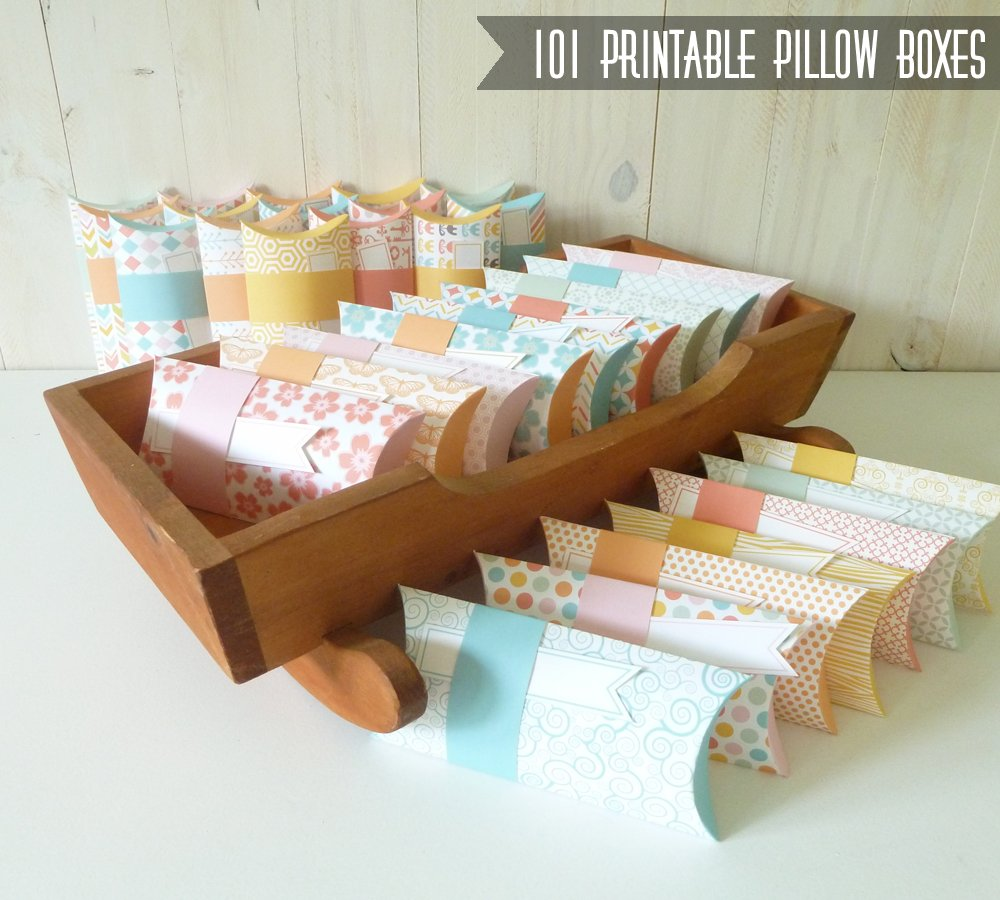 Pillow Box Printables