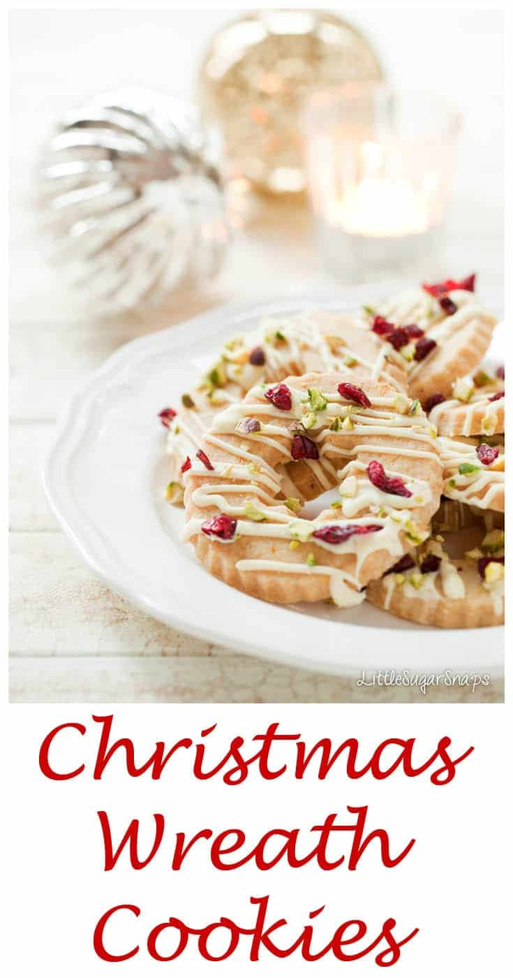 Full of spices and decorated with cranberries, white chocolate & pistachios these Christmas Wreath Biscuits are perfectly beautiful &a super easy.