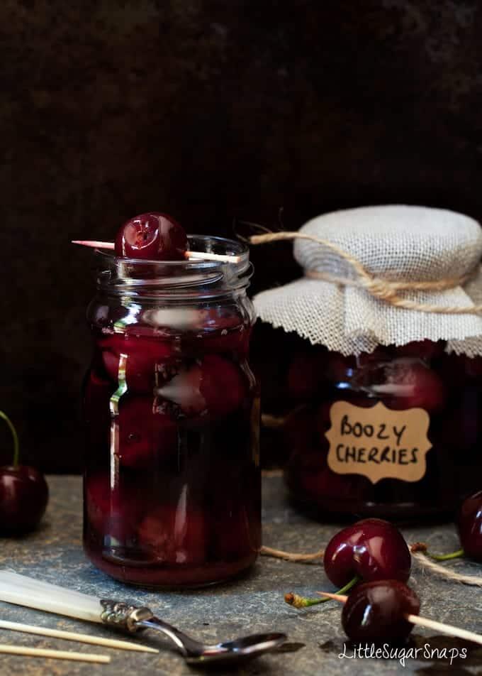 Cinnamon Bourbon Cherries