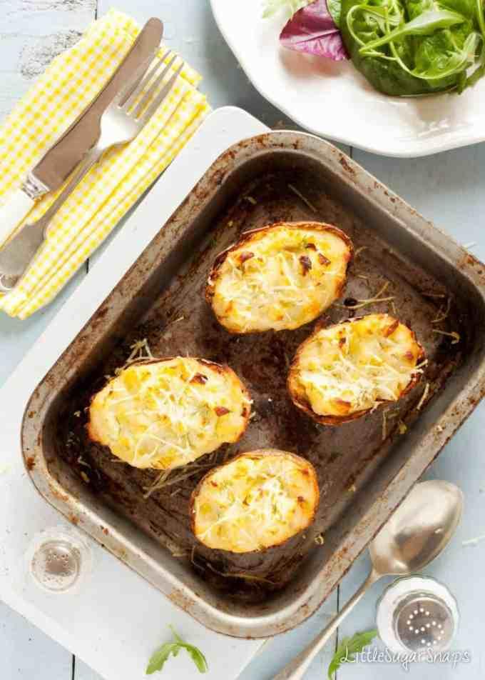 Cheesy Leek Baked Potatoes
