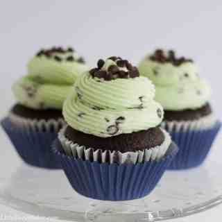Chocolate mint cupcake recipe