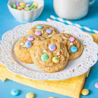 Soft Baked M&M Cookies with Quinoa Flakes