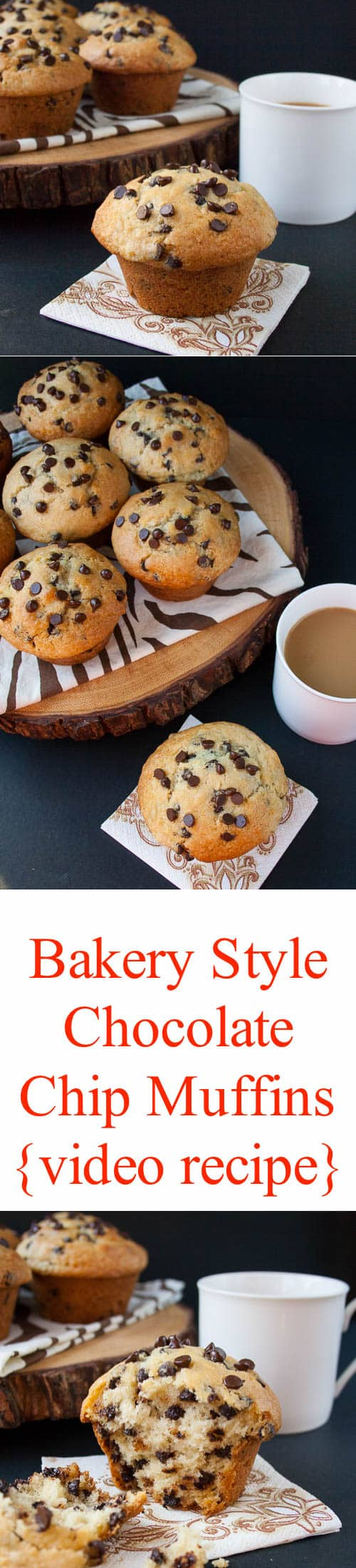 Bakery Style Chocolate Chip Muffins {video recipe ...