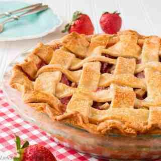 Strawberry Rhubarb Pie (video)