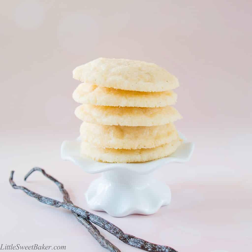 Vanilla Bean Sugar Cookies - Little Sweet Baker