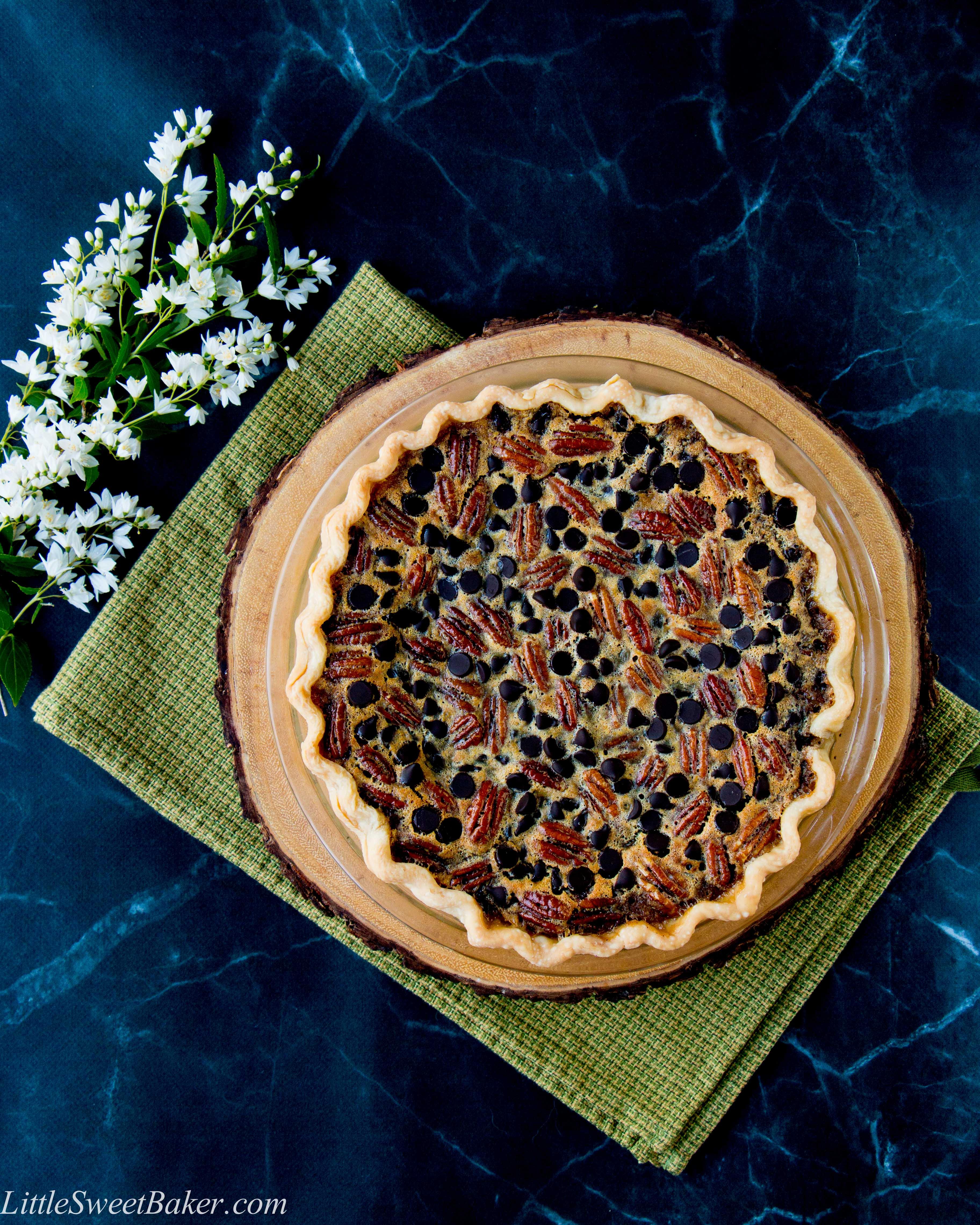 Chocolate Pecan Pie - Little Sweet Baker