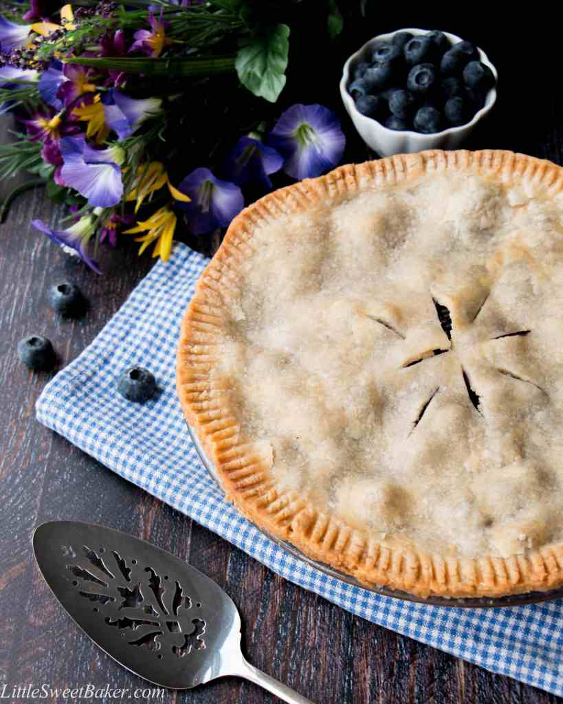 This is a tender flaky pie crust filled with juicy blueberry goodness - just like grandma used to make. This recipe is easy peasy and delicious!