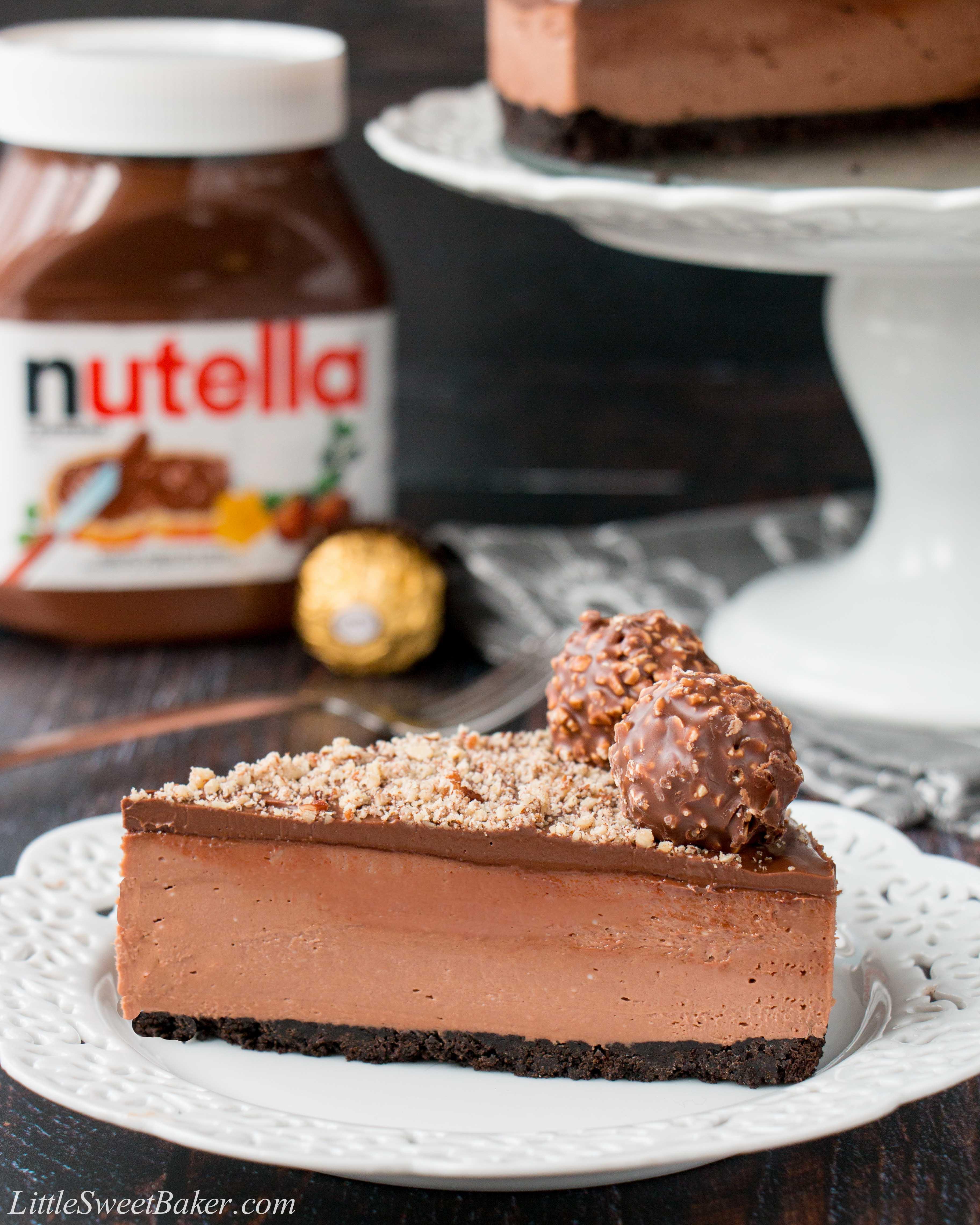 NoBake Nutella Cheesecake Little Sweet Baker