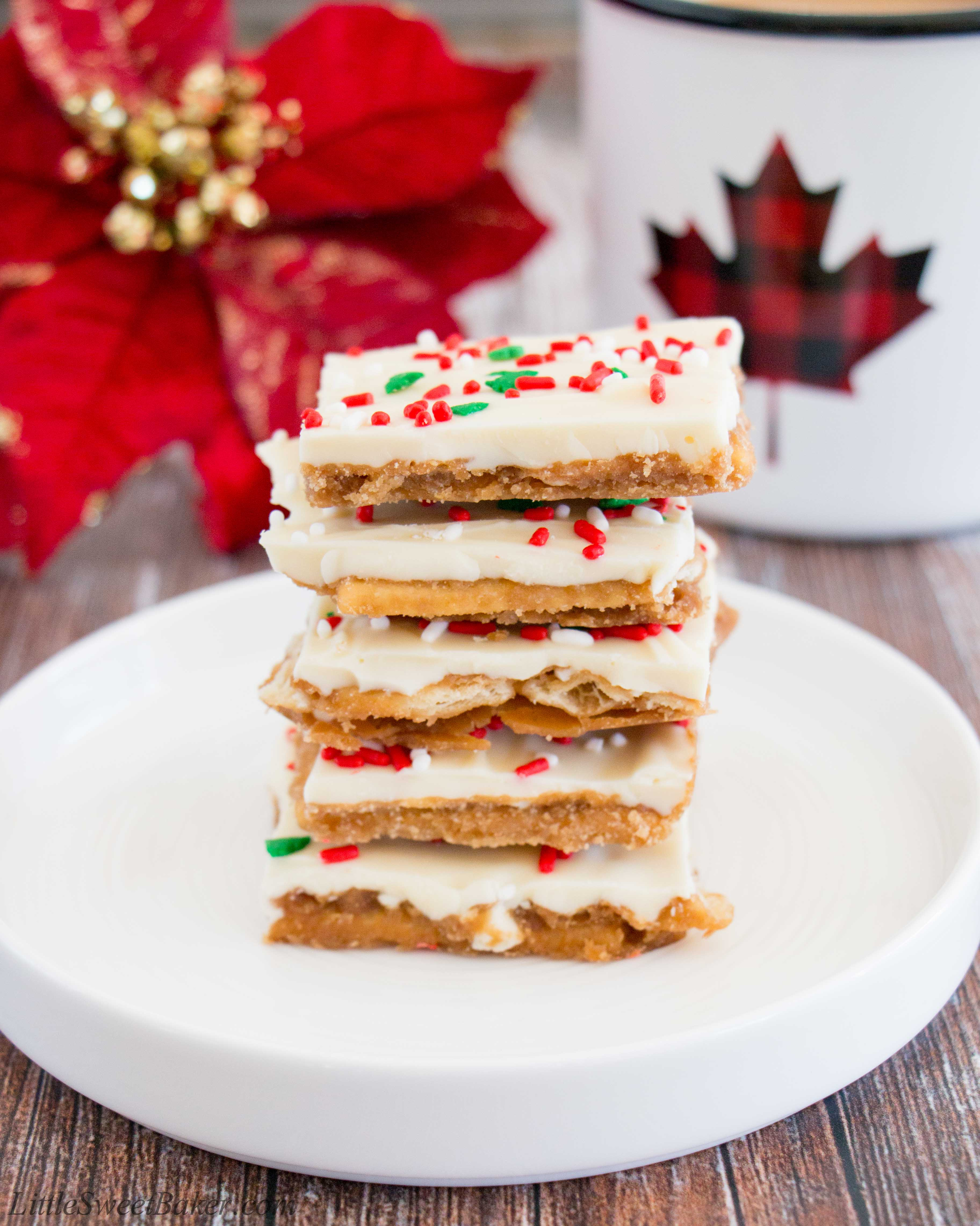 Cooking Pinterest Christmas Crack Cookies Recipe: White Chocolate Christmas Crack