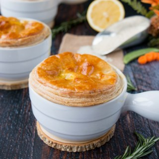 Creamy Lemon Chicken & Rice Pot Pies