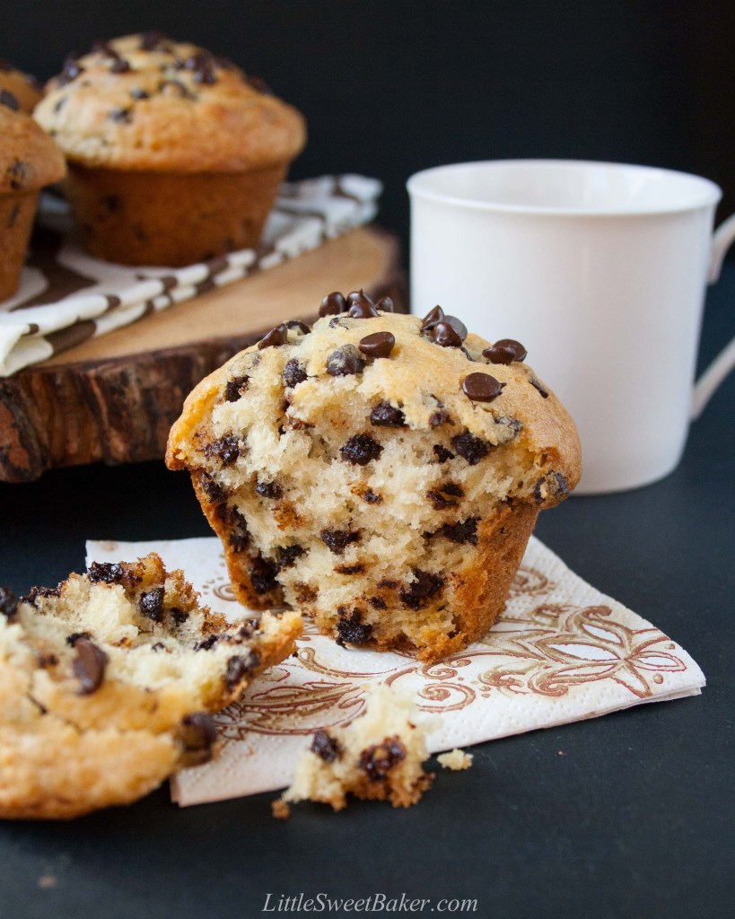 bakery style chocolate chip muffins video little sweet. Black Bedroom Furniture Sets. Home Design Ideas