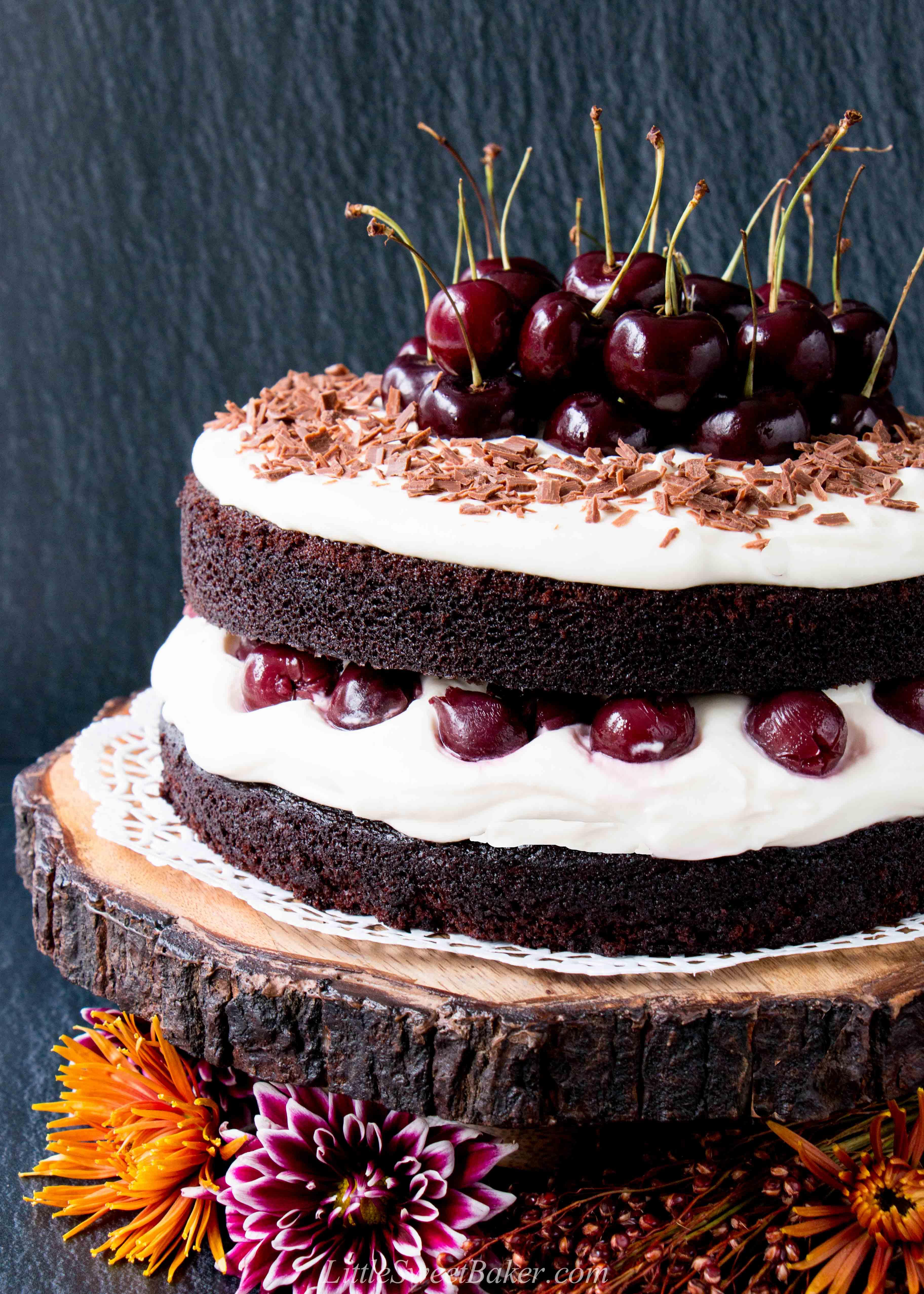 Homemade Black Forest Cake Little Sweet Baker