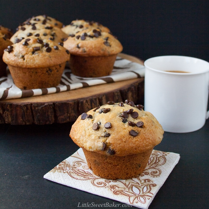 Chocolate chip muffins recipe no brown sugar