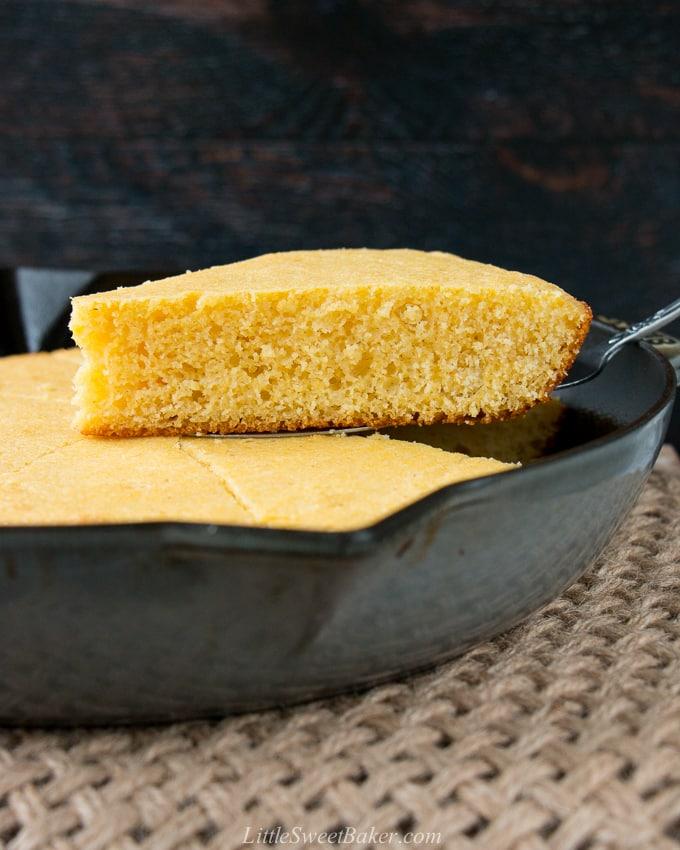 Easy Skillet Cornbread Little Sweet Baker