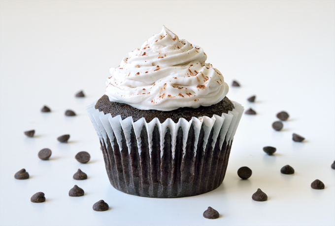 Chocolate Cupcakes with Coconut Cream
