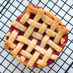 Image of Mini Strawberry Lattice Pie