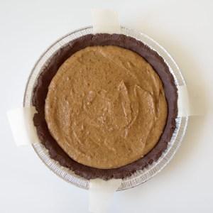 Vegan Salted Date Caramel Chocolate Pie