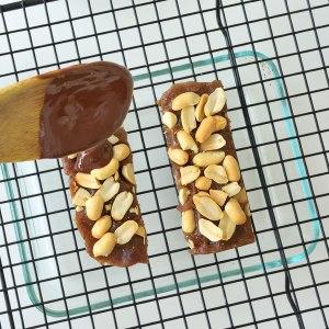 Salted Date Caramel Peanut Chocolate Bars