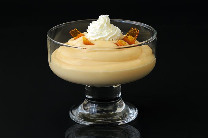 Caramel Pudding with Caramel Shards