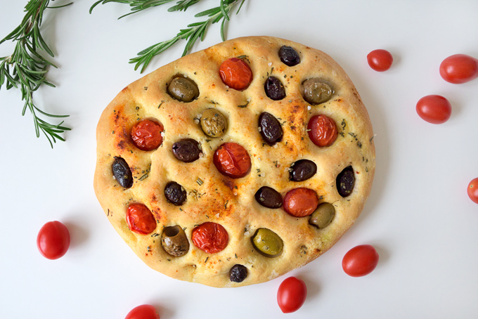 Olive And Tomato Focaccia Bread Little Swiss Baker