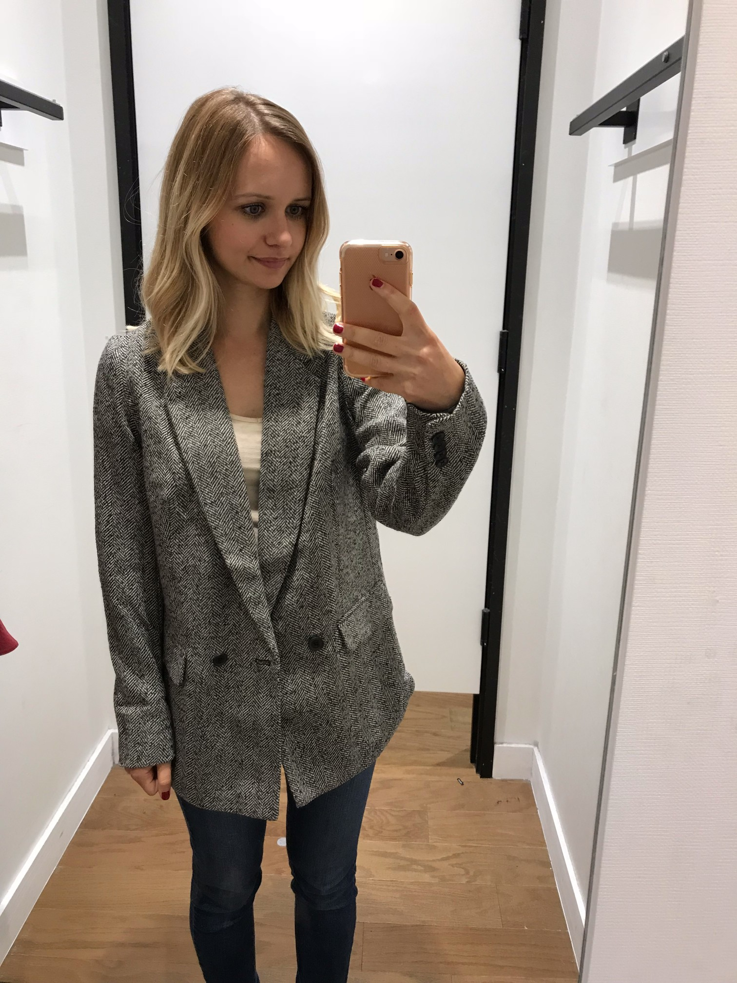Express Herringbone Oversized Blazer | Little Things Olga
