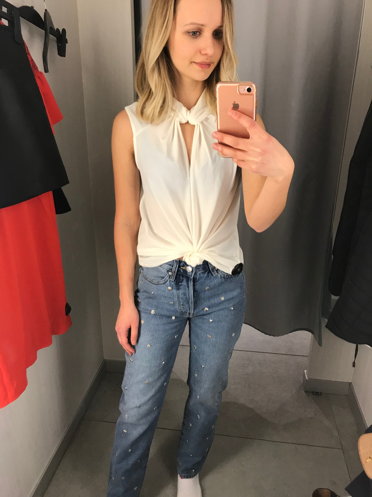 H&M Vintage High Jeans   Fitting Room Adventures by Little Things Olga