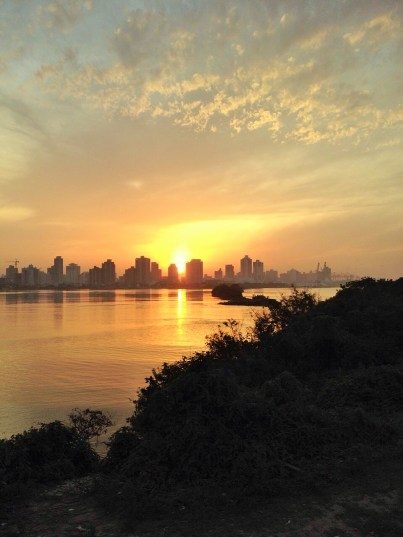 Sunset over Itajaí city