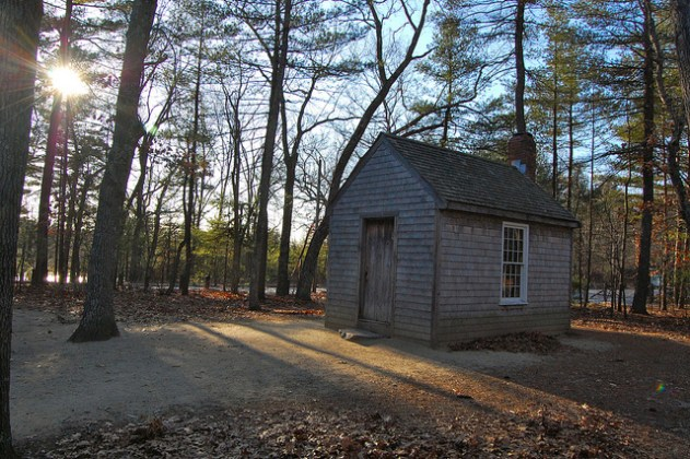 Replica of Thoreaus hut near Walden Pond