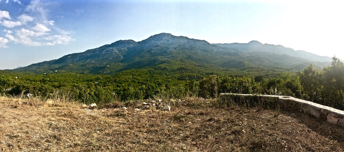 Mountains in Kotlenice Croatia