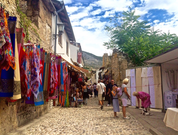 Street vendors in Mostar