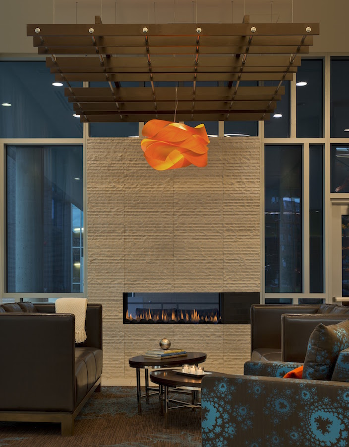 SpringHill Suites Lobby Fireplace