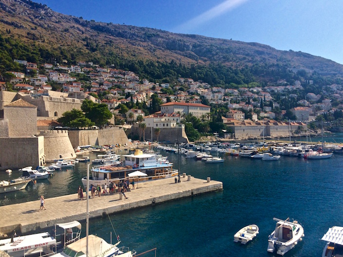 Ferry to Lokrum in the Dubrovnik Old City Harbor