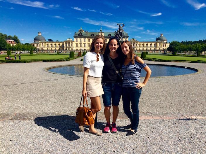 Outside Drottningholm Palace Stockholm Sweden