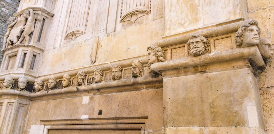 Faces on St. James Church Šibenik