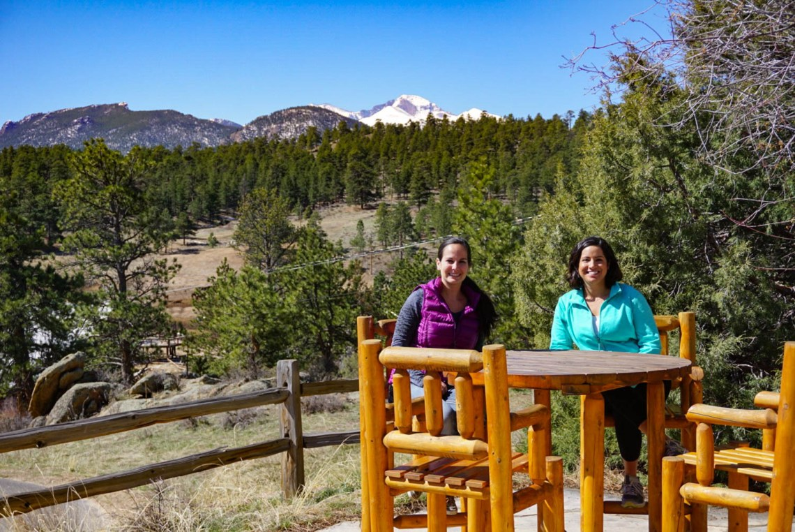 Marissa and Alyssa - Girlfriends Getaway in Estes Park at the Golden Leaf Inn
