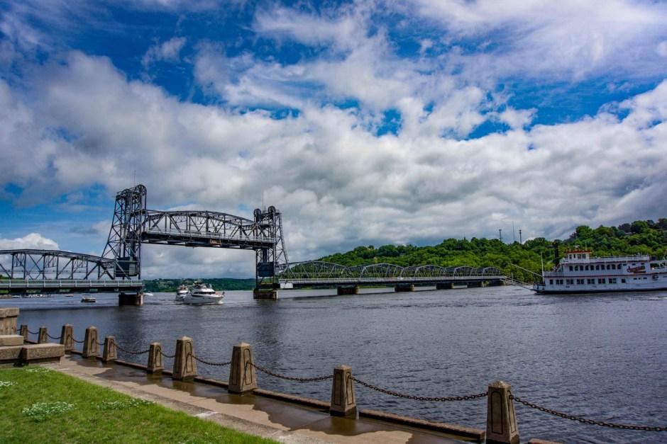 Historic Lift Bridge - Stillwater Minnesota Small Town