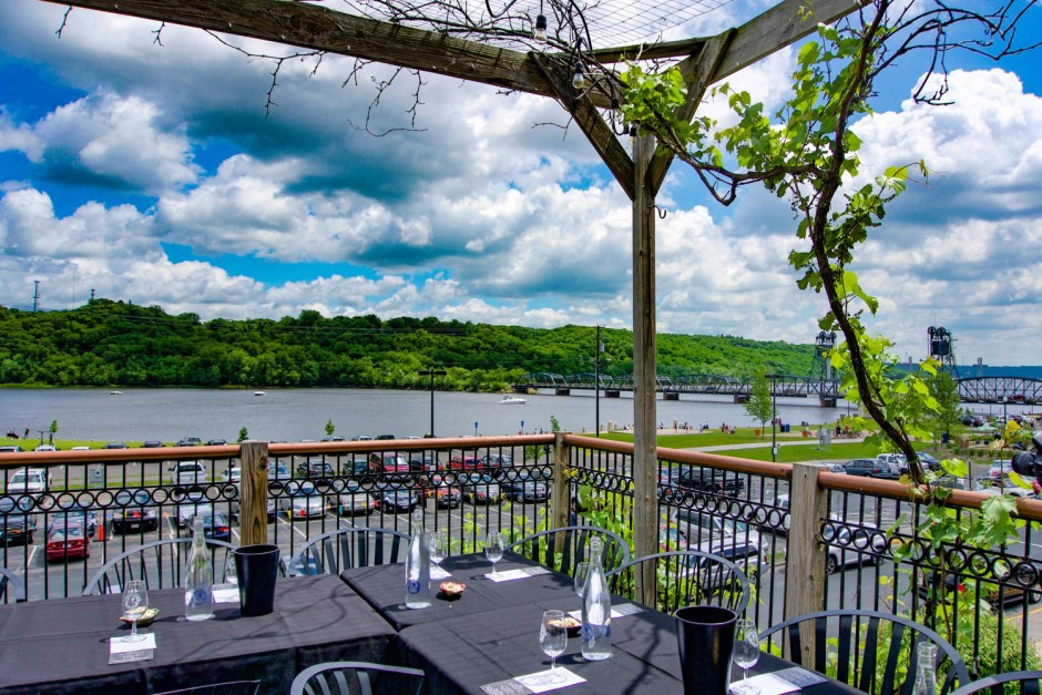 Northern Vineyards Winery Deck - St. Croix River